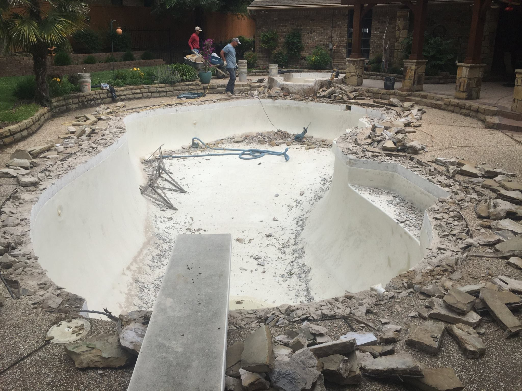 Flower Mound Pool Remodel Beginning